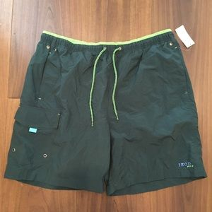 ISO's performx green swim trunks